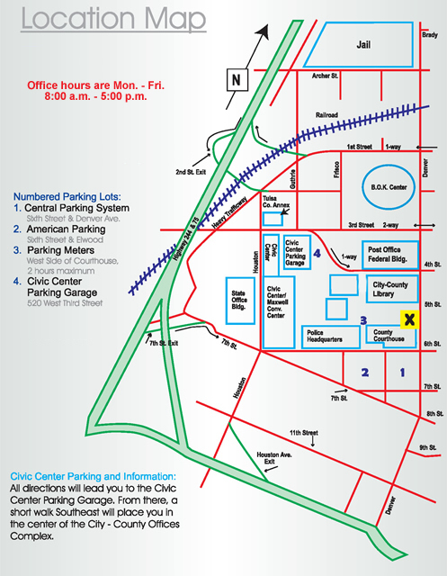 Map to Courthouse
